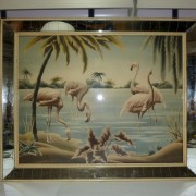 50's TURNER Flamingo mirror frame