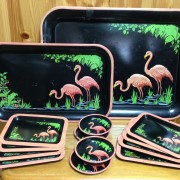 50's Flamingo Tray Complete
